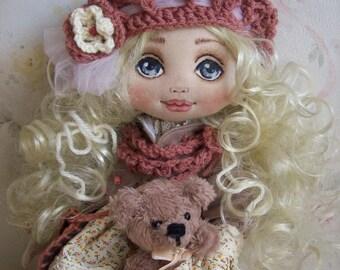 Textile Doll- Art Doll - Fabric Doll - Home decor