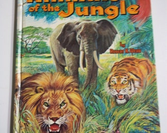 Animals of the Jungle by Robert N. Webb Whitman Learn About Book #22 1964 Vintage Childrens Board Book