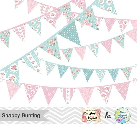 shabby chic bunting - photo #14