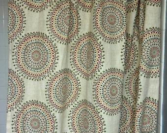 Shower Curtain, Designer Shower Curtain, Long Shower Curtain,  Carousel Tropic Magnolia Home Fashions