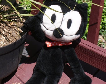 Cute '80s Felix The Cat Stuffed Animal