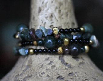 Bracelet stacked beaded