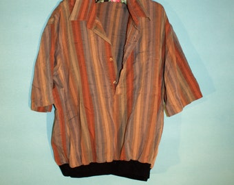 VINTAGE 1970s Alan Stuart Button Down Shirt Men's XL