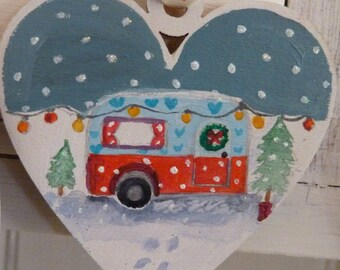 Classic caravan Christmas decoration
