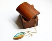 Wooden trinket box / jewellery box handmade from dense Australian Jarrah wood by Joe Costatino