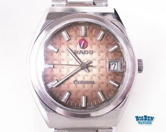 Men's All Steel RADO CONWAY Automatic VINTAGE Watch w/ Date