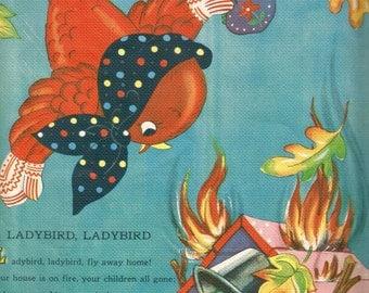 Vintage retro children's book nursery rhyme illustration ladybird digital download printable instant image
