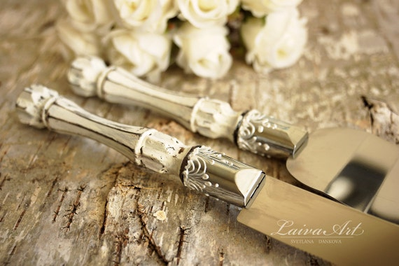 rustic wedding cake server set knife cake cutting by laivaart. Black Bedroom Furniture Sets. Home Design Ideas