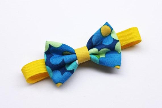 Papillon per bambino stampa floreale giallo e blu farfallini for Papillon per bambini