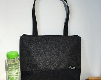 Lunch bag insulated and waterproof,  leaves  pattern