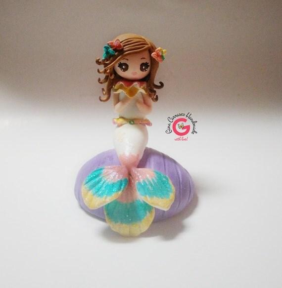 Mermaid cake topper children cake topper by ...