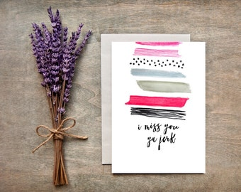 Miss you Card/Thinking of You, Greeting Card