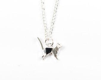 Origami Cat Necklace | Cat Necklace | Origami Necklace | Cat Gift Idea | Cat Jewellery