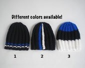 Flag colored hat, ribbed hat with flag colors, skull fit or slouchy crochet beanie, hat for men, Estonia