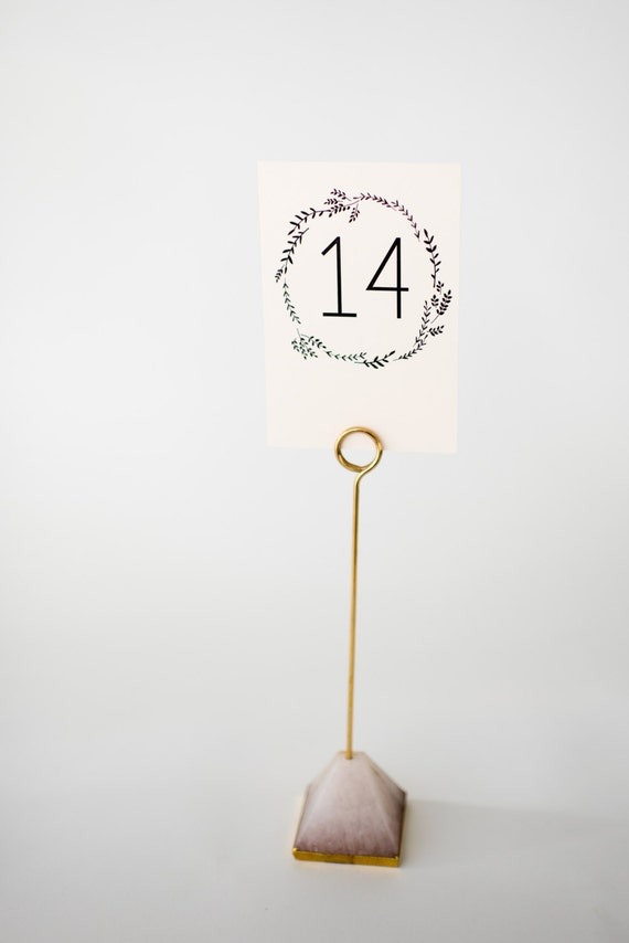 ruby table numbers (double-sided)  //  lola louie paperie