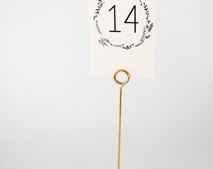 ruby table numbers  //  lola louie paperie