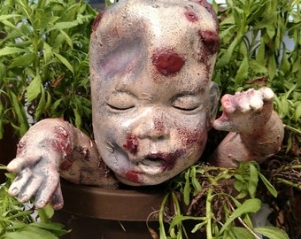 Zombie Garden Statue, Halloween Garden Decor, Halloween Yard Decor