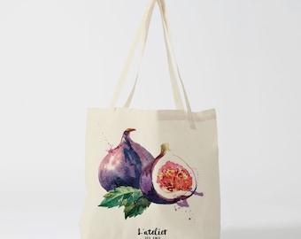 X96Y Tote bag figue, tote bag fruit, sac à main, sac fourre-tout, sac à langer, sac ordinateur, sac pour le marché, sac pour les courses