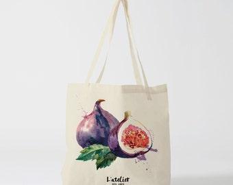 X96Y Tote bag fig, tote bag, fruit, handbag, tote bag, diaper bag, computer bag, market bag, shopping bag