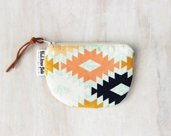 Small Zipper Pouch, Agave Field Fabric, Southwest, Coin Purse, Credit Card Wallet, Change Purse, Gift for Her