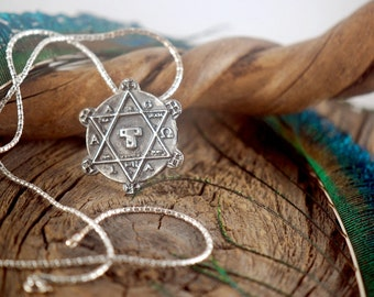 Seal of Solomon ~ Sterling Silver Pendant ~ Occult Talisman ~ Wisdom Magic and Alchemy ~ Judaism