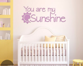 You Are My Sunshine Vinyl Wall Decal Sticker