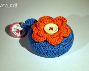 Crochet flower tape measure