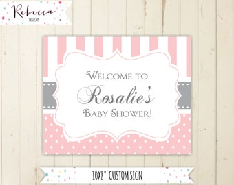 pink welcome sign baby shower pink baby shower sign striped welcome sign printable baby sign pink printable welcome sign pink and grey 124