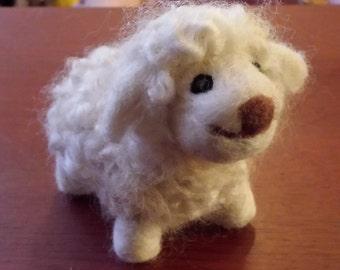 Mini Sheep - needle felted sheep - needle felted farm animals - needle felted toys - toys - made to order - organic materials
