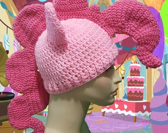 Crochet Pinkie Pie Inspired Beanie Ready to Ship