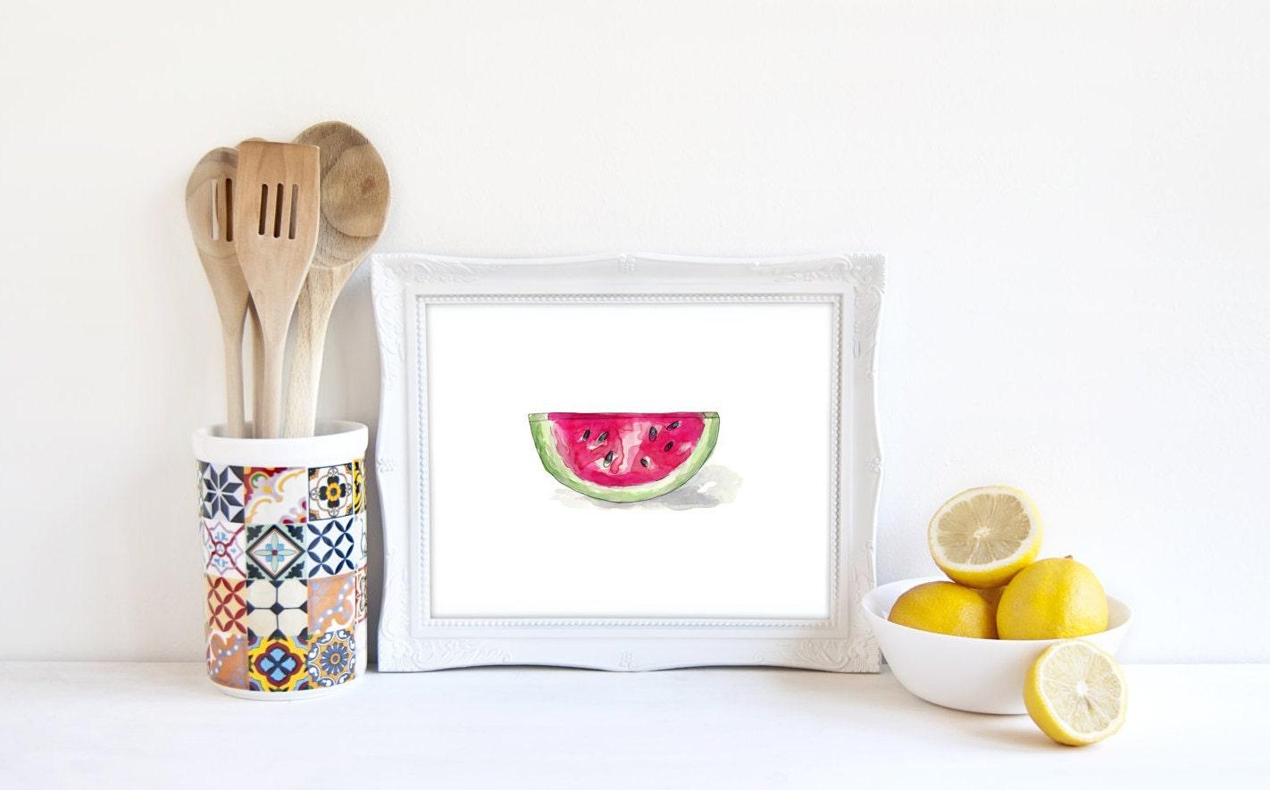 watermelon print watermelon decor food kitchen