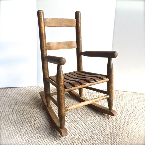 Rocking Chair. Solid Wood Handcrafted Farmhouse Ladder Back Rocker ...