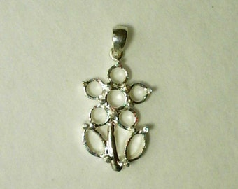 925 Sterling Silver Pendant Casting For Cabochons