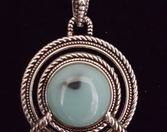 Jade Circle Pendant Necklace