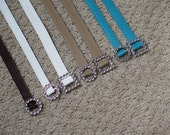 Many Colors! - 18 Inch Doll Belts - Brown, Tan, White, Aqua Belts with Buckles - 18 Inch Doll Clothes - Doll Belt - Western Doll
