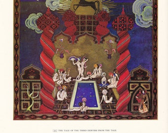 Kay Nielsen Arabian Nights vintage illustration folk tale fairy tale fine art print home decor 8.5x11 inches