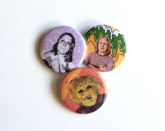 Ty Segall pin set, Ty Segall pin, Ty Segall Pinback Button, Ty Segall 1.5 inch pin, Ty Segall 1.5 inch pinback button, Melted Album pin