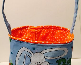 Easter Basket, Personalized, hand painted, peeps, bunny and carrots
