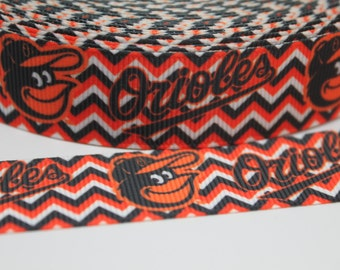 Orioles Ribbon 7/8 Grosgrain Ribbon by the Yard for Hairbows, Scrapbooking, and More!!