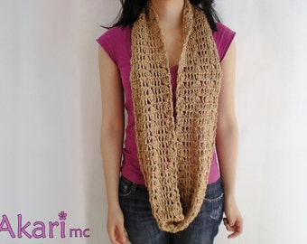 Infinity scarf crochet pattern. Easy level. Loops up to 3 times _ C06