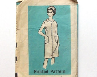 Vintage 60's Sewing Pattern - Marian Martin Mail Order Dress Pattern #9146 - Size 14 1/2