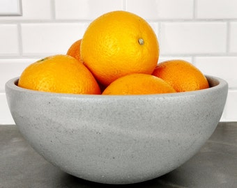Concrete Fruit Bowl / Concrete Bowl
