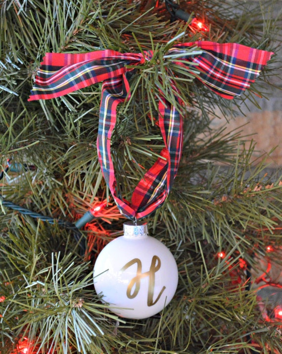 Personalized glass ball ornament for the christmas tree