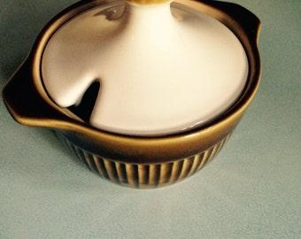 Retro Langley Pottery English Sugar Bowl - 70's kitchenalia