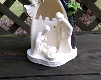 Nativity lamp religious lamp christmas lamp nativity scene ceramic lamp jesus lamp baby jesus virgin mary white lamp christmas decor
