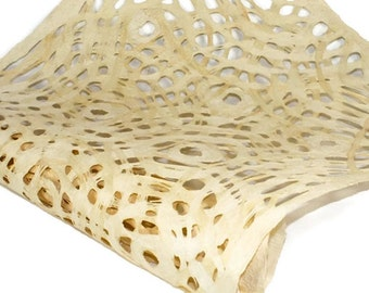 Amate Bark Paper from Mexico - Circular Pattern - Cream