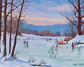 ICE SKATING, Ice Skating Decor, Art Print, Poster, Wall Art, Ice Skater, Figure Skater Gift, Figure Skating, Ice Skating Party, Winter Decor