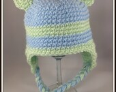 Baby Crochet Hat Baby Bear crochet Hat Baby Blue Bears Hat Photo Prop Hats