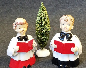 Vintage Ceramic Choir Boy & Girl Made by Orion in Japan
