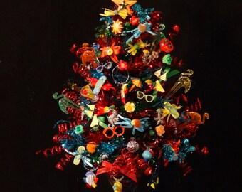 Beach Christmas Tree, Beach Christmas Decoration,Beach Drink Decoration,Beach Christmas Trees,Decorated Beach Christmas Tree,Beach ornaments